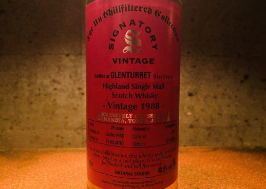 グレンタレット 1988 29年 シグナトリー #536 信濃屋